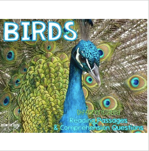 All About Birds Leveled Texts {Differentiated Reading Passages & Questions}