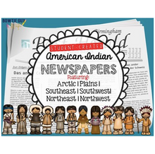 Load image into Gallery viewer, American Indian Newspapers for each Native American region