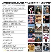 Load image into Gallery viewer, American Revolution Bundle Vol. 2 {Differentiated Reading Passages & Questions}