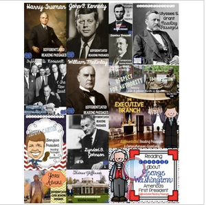 American Presidents Differentiated Reading Passages