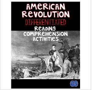 American Revolutionary War with England Differentiated Activities