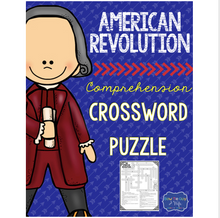 Load image into Gallery viewer, American Revolution Crossword Comprehension Puzzle