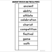 Load image into Gallery viewer, Ancient Greece and The Olympics {Interactive Vocabulary Sort}