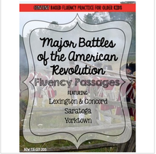 Load image into Gallery viewer, American Revolution Fluency Passages (Key Battles)