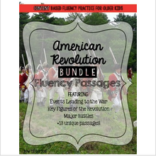 Load image into Gallery viewer, American Revolution Fluency Passages BUNDLE