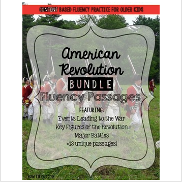 American Revolution Fluency Passages BUNDLE