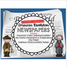 Load image into Gallery viewer, American Revolution Student Created Newspapers