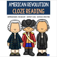 Load image into Gallery viewer, American Revolution CLOZE READING Activities