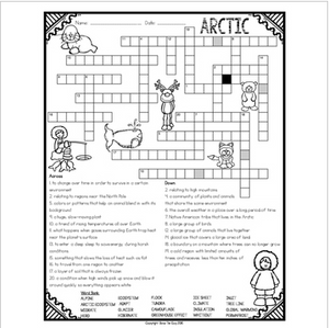 Arctic Ecosystem Crossword