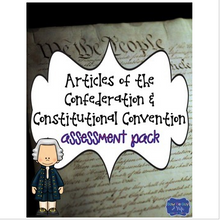Load image into Gallery viewer, Articles of Confederation & Constitutional Convention Assessment Pack