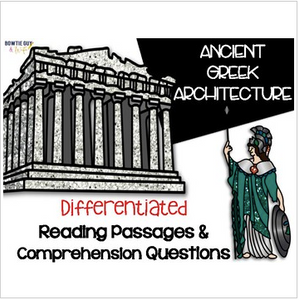 Ancient Greek Architecture {Differentiated Reading Passages & Questions}
