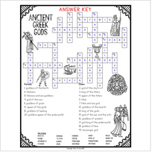 Load image into Gallery viewer, Ancient Greek Gods Crossword