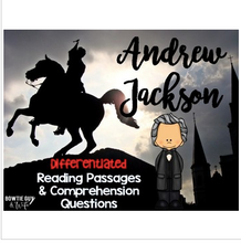 Load image into Gallery viewer, Andrew Jackson Reading Passages Leveled Texts