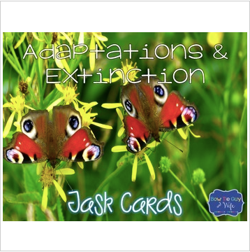 Animal Adaptations & Plant Adaptations & Extinction Task Cards