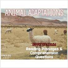 Load image into Gallery viewer, Animal Adaptations Informational & Nonfiction Text & Comprehension