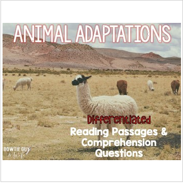 Animal Adaptations Informational & Nonfiction Text & Comprehension