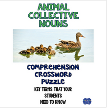Load image into Gallery viewer, Animal Collective Nouns Crossword