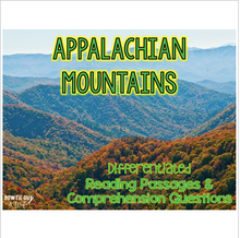 Load image into Gallery viewer, Appalachian Mountains Differentiated Nonfiction Reading Passages