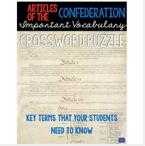 Articles of Confederation Crossword
