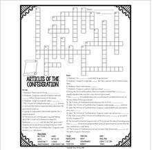 Load image into Gallery viewer, Articles of Confederation Crossword