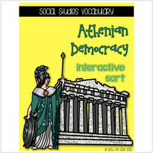 Load image into Gallery viewer, Athenian Representative & Direct Democracy {Interactive Vocabulary Sort}