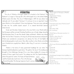 Atlanta Differentiated Reading Passages & Questions