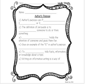 Author's Purpose {Differentiated Reading Passages & Questions}