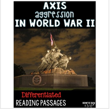 Load image into Gallery viewer, Axis Powers and World War 2 Reading Passages Leveled Texts