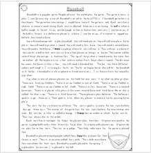 Load image into Gallery viewer, Baseball Close Reading Passages