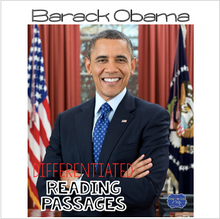 Load image into Gallery viewer, Barack Obama Differentiated Reading Passages & Questions