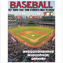 Load image into Gallery viewer, Baseball Comprehension Crossword