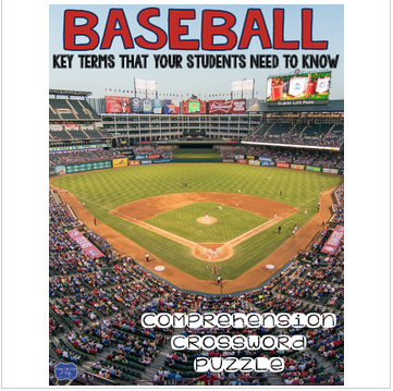 Baseball Comprehension Crossword