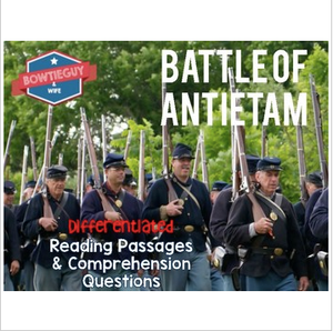 Battle of Antietam Differentiated Reading Passages