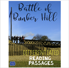 Load image into Gallery viewer, Battle of Bunker Hill Differentiated Reading Passages & Questions