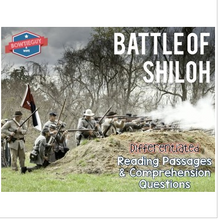Load image into Gallery viewer, Battle of Shiloh Differentiated Reading Passages