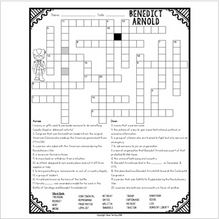 Load image into Gallery viewer, Benedict Arnold Crossword