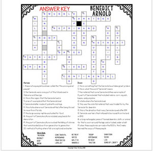Benedict Arnold Crossword