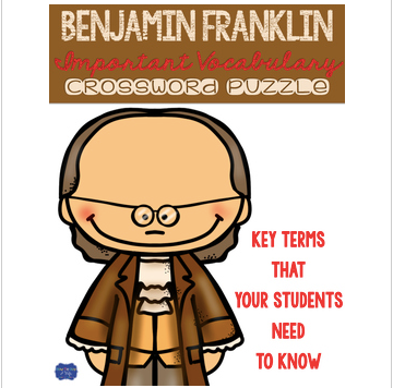 Benjamin Franklin Crossword Comprehension Puzzle