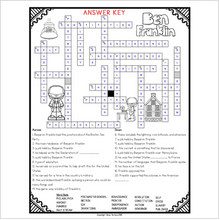 Load image into Gallery viewer, Benjamin Franklin Crossword Comprehension Puzzle