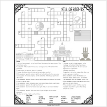 Load image into Gallery viewer, Bill of Rights Crossword