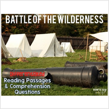 Load image into Gallery viewer, Battle of the Wilderness Differentiated Reading Passages