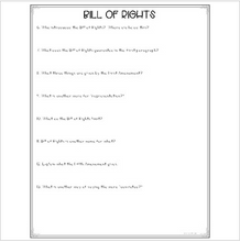 Load image into Gallery viewer, Bill of Rights {Differentiated Close Reading Passages & Questions}