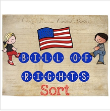 Load image into Gallery viewer, Bill of Rights {Interactive Notebook Sort for the 10 Amendments}