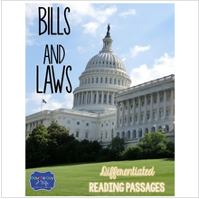 Load image into Gallery viewer, Bills and Laws Differentiated Reading Passages