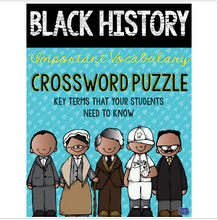 Load image into Gallery viewer, Black History Month Crossword Comprehension Puzzle