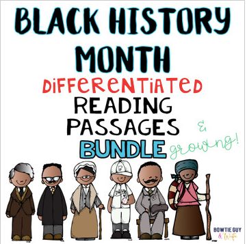 Black History Month Differentiated Reading Passages No Prep Leveled Texts