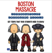 Load image into Gallery viewer, Boston Massacre Crossword