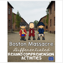 Load image into Gallery viewer, Boston Massacre Differentiated Activities