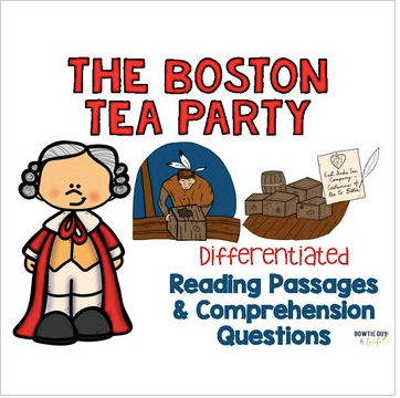 Boston Tea Party Reading Passages: Leveled Texts for SS Integration