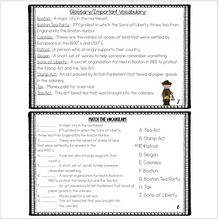 Load image into Gallery viewer, Boston Tea Party {Mini Book & Activities} Vocabulary, Posters, Editable!